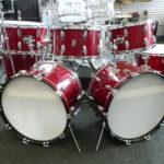 Premier_parts_Moon_Tribute_drum_set_Red_glass_glitter