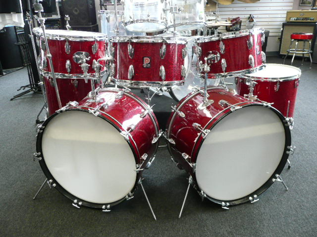 premier parts moon tribute drum set red glass glitter. Black Bedroom Furniture Sets. Home Design Ideas