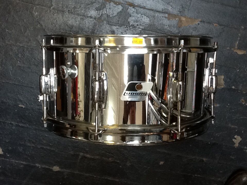 ludwig rocker snare drum 6 1 2x14 rockhaus guitars and drums milwaukee. Black Bedroom Furniture Sets. Home Design Ideas